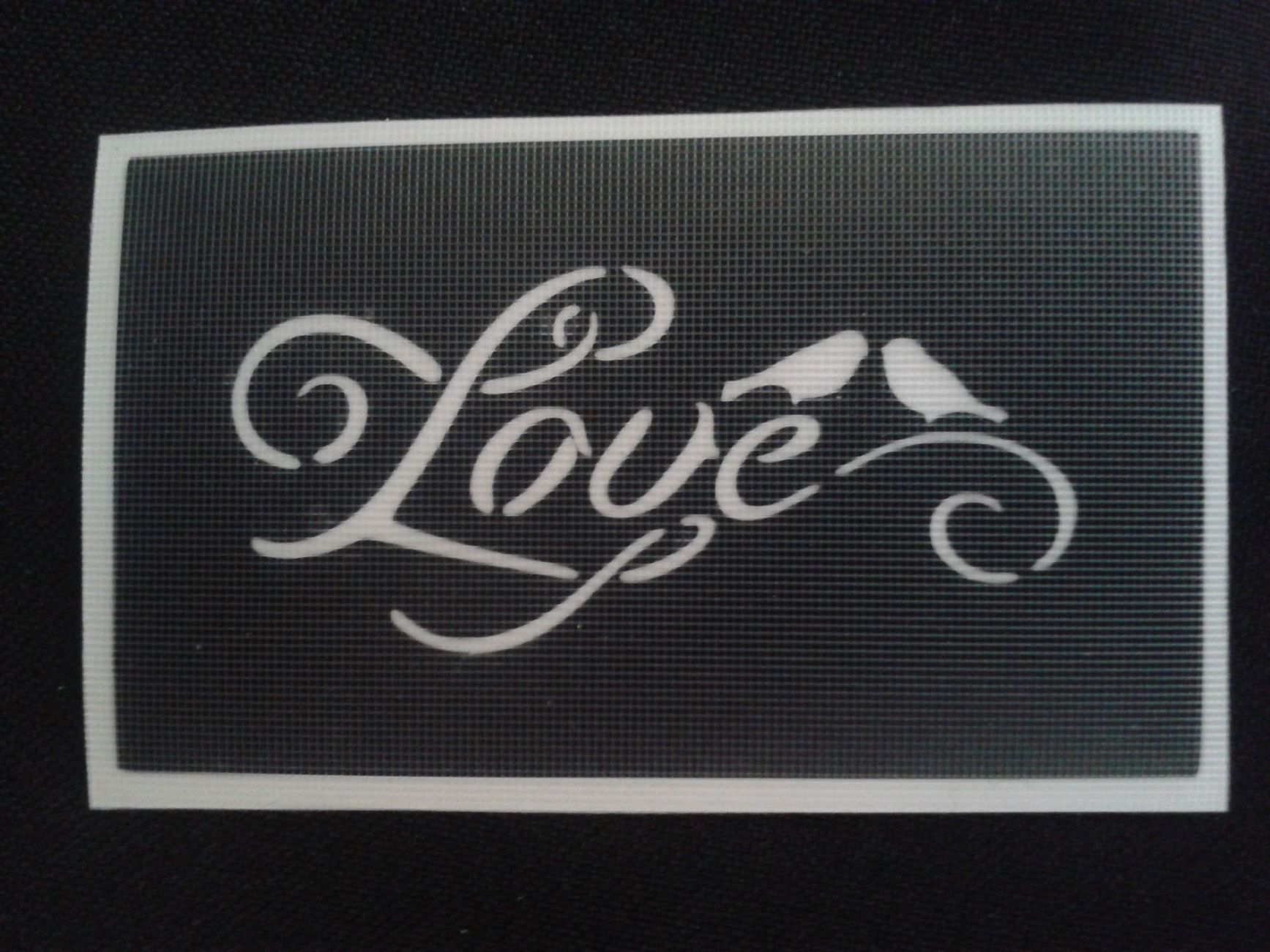 love birds u0026 love word stencils for etching on glass