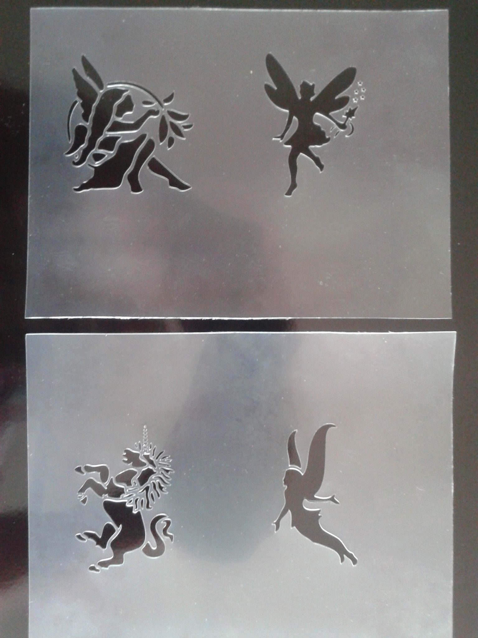 Fairy & unicorn face painting stencils / other craft projects reusable many  times fairies