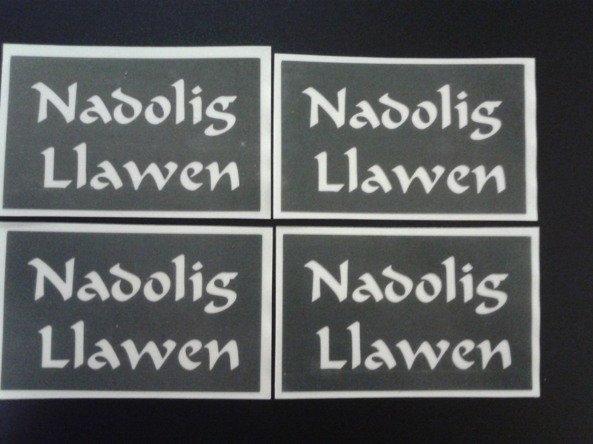Nadolig Llawen Word Stencils For Etching On Glass Craft Hobby Welsh Happy Christmas Wales
